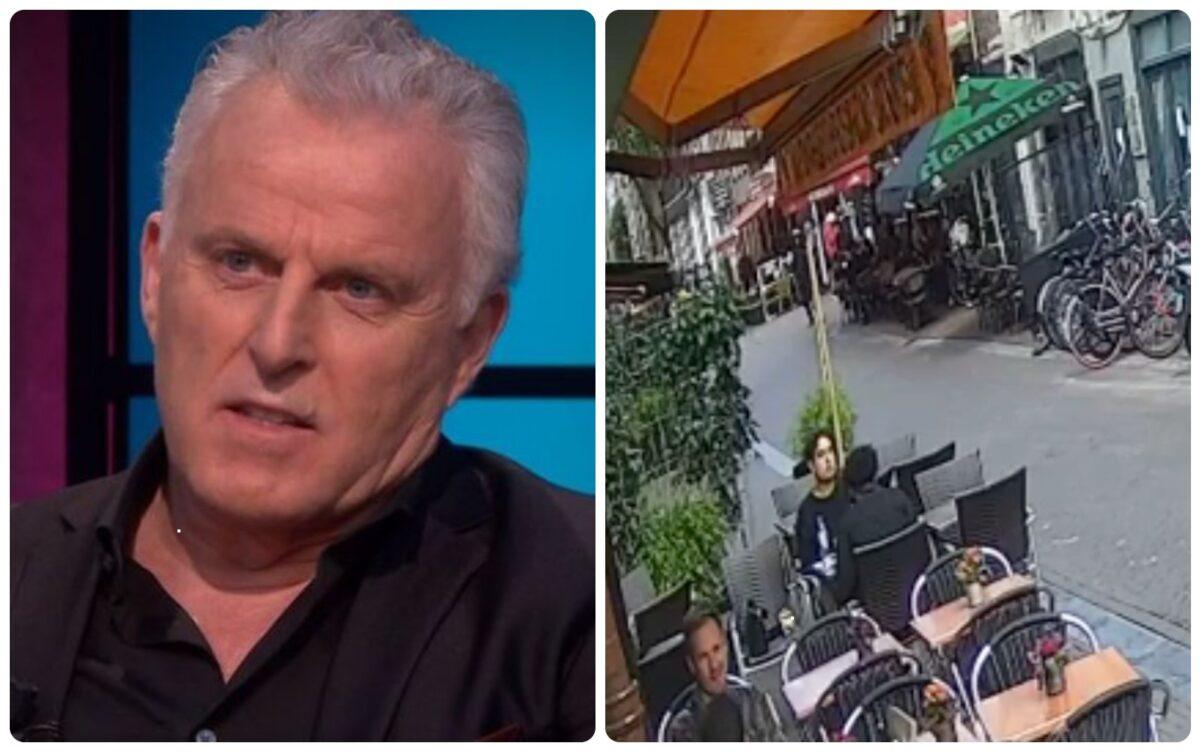 Bizarre beelden te zien moment dat misdaadverslaggever Peter R de Vries achtervolgd wordt voor schietincident
